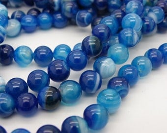 50 Blue agates has scratches 8 mm