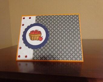 Apple basket card
