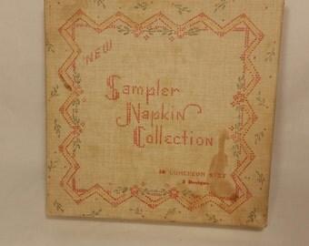 Vintage Sampler Luncheon Size Paper Napkins
