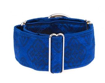 Blue martigale collar, martingale dog collar, dog collar, 2 inch martingale
