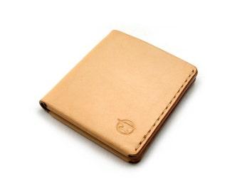 Leather Wallet, Men's Leather Wallet, Slim Wallet, Minimalist Wallet, Simple, Modern, Handmade, Billfold, Natural.