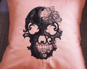 Ghost Baroque - Skull Pillow