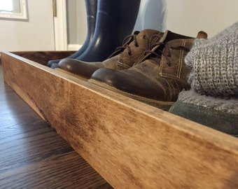 Boot Tray made with Maple Wood, Boot Cubby, Shoe Rack, Mudroom Storage, Wood, Home Decor, Boot Storage, Entryway Organizer, Shoe Organizer