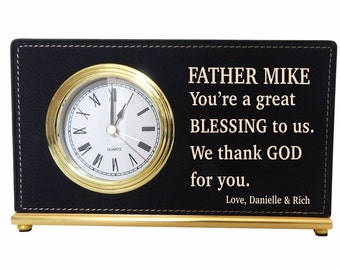 Priest Wedding Officiant Minister Clock Gift, Catholic Priest Father Custom Appreciation Gift, Monsignor-Deacon-Clergy Gifts, LPC009