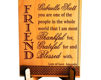 Personalized gift etsy Gifts to show appreciation to friend
