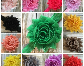 flower hair band - hair flower - shabby chic - shabby flower - headbands - shabby flower headband - rosette flower - rosette flower headband
