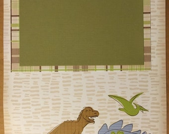 Dino Scrapbooking page