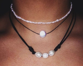 Oval Freshwater Pearl Necklace