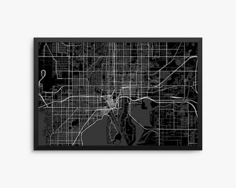 Tampa City Street Map, Tampa Florida USA, Modern Art Print, Tampa Office Decor, Tampa Home Decor, Tampa Map, Tampa Print, Tampa Art, Gift