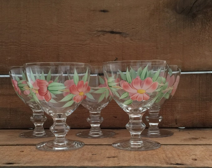Ice Cream Bowls, Crystal Sherbet Glasses, Hand Painted Glasses,  Crystal Dessert Bowls, Wedding Gift, Bridal Shower Decor, Ice Cream Dishes
