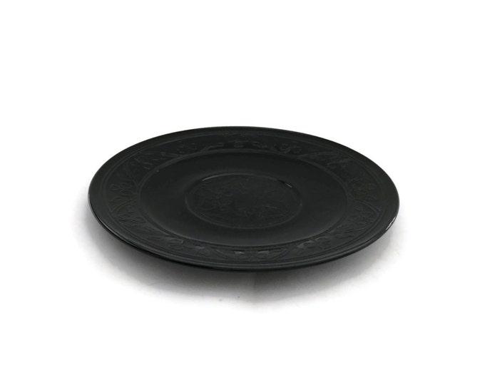 Hazel Atlas Cloverleaf Black Depression Glass Luncheon Plate