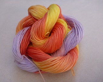 """Hand dyed thread, HDT, Size 10, 15, 20, 40, 50, 70, multycolor, HDT, tatting, crochet, embroidery, knitting, lacemaking, craft thread, """"Joy"""""""
