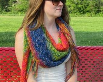 Knit Summertime Shawl Kit, pattern, 3 skiens Diamond summertime yarn,