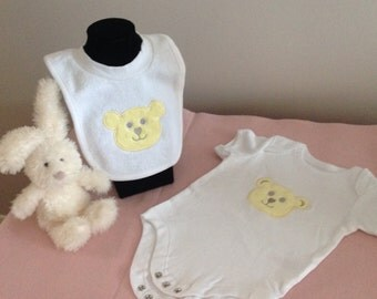 Teddy Bib and Vest Set
