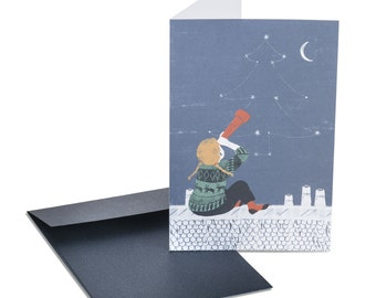 Christmas card. Constellation. Astronomy gifts. For him. For her. For young girls.