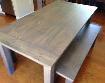 Classic Gray Farm Table - Up to 9' Length!!!