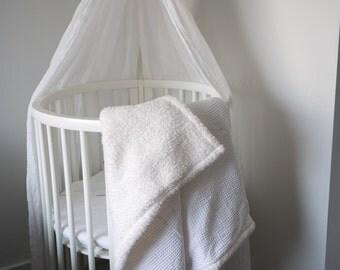 Baby blanket, cotton blanket, Teddy fleece, Multifunctional Wafers
