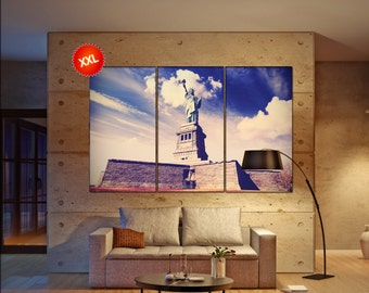 Statue of Liberty  print  on canvas wall art Statue of Liberty in New York City photo art work framed art artwork