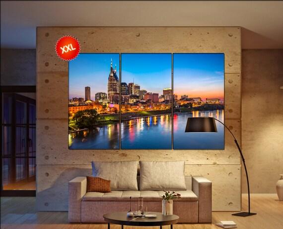 Nashville Skyline wall decor art  Nashville Skyline black white  Nashville Skyline canvas wall art  canvas wall art