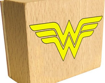 Wonder Woman logo rubber stamp