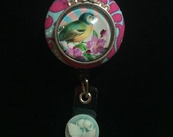 Bluebird Rising-Nurse Retractable ID Badge Reel/ RN Badge Holder/Doctor Badge Reel/Nurse Badge Holder/Nursing Student Gifts