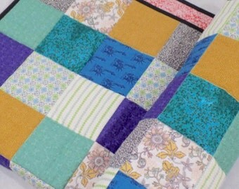 Toddler Quilt, Toddler Blanket, New York Baby, Patchwork Baby Quilt, Large Cot Quilt, Chair Throw, Bohemian Quilt, Large Baby Quilt