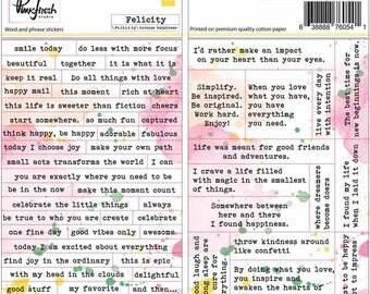 Pinkfresh Studio - Felicity - Word / Phrase Stickers