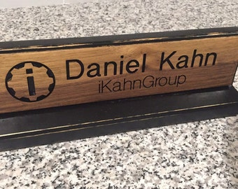 Completely Customizable Engraved and Distressed Desk Name Plaque