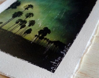 California Art, Venice Beach,  Wall Art Decor, Los Angeles Decor, Small Art, Art Card,  Frame 5X7,  Small Art Print