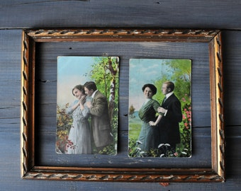 Antique Postcards Two Lovers, Loving Couple