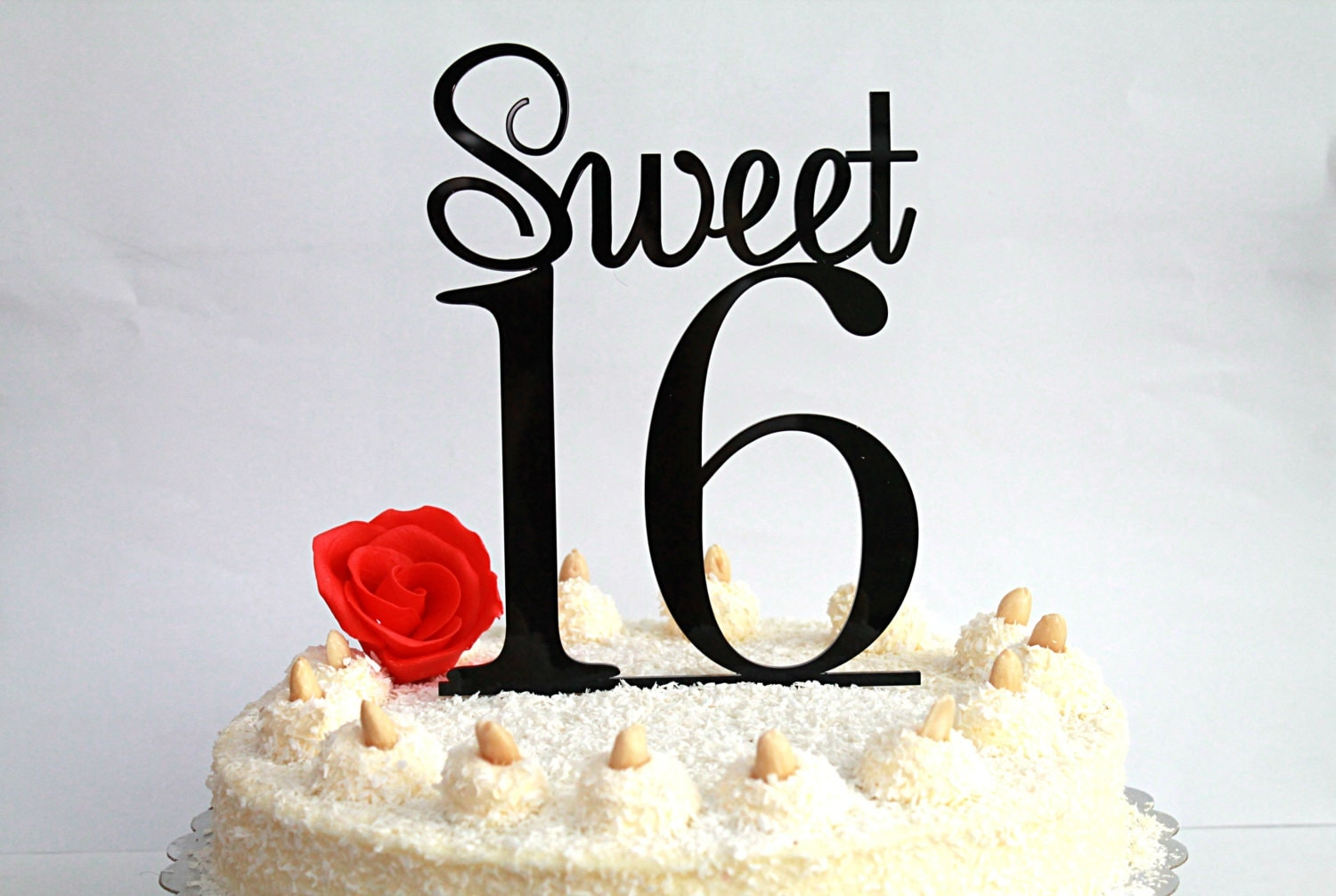 Sweet 16 Cake Topper 16th Birthday Cake Topper Sweet Sixteen
