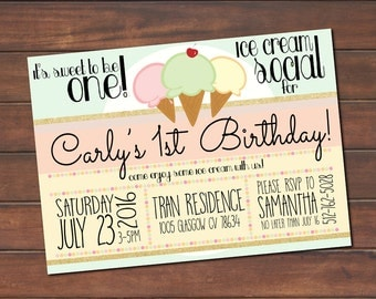 Ice Cream Social Birthday Party!