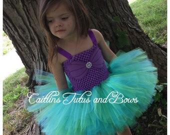 Ariel tutu dress, mermaid tutu dress, little mermaid tutu, mermaid dress, ariel costume, mermaid costume, ariel tutu