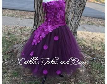 Purple flower girl tutu dress, purple tutu dress, flower girl tutu dress, plum flower girl dress, plum tutu dress, flower girl dress, purple