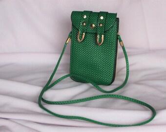 Green bag. Vintage bag purse. Evening bag. Travel bag