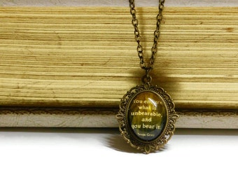 Shadowhunters: The Infernal Devices Clockwork Angel Tessa Gray Quote Cameo Necklace/Bookmark/Cameo Necklace/Keychain/Bracelet/Cameo