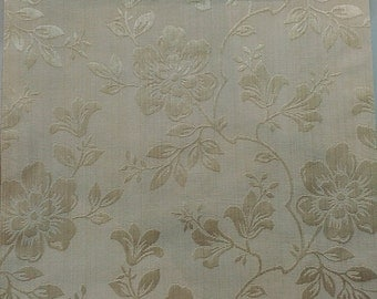 Large Flower Pattern Fabric in Gold