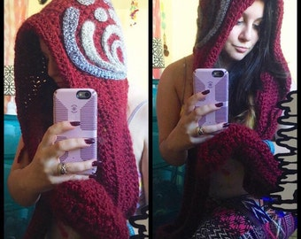 Bass Drop Hooded Scarf (with pockets)