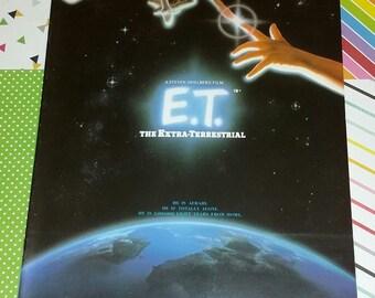Vintage 1982 Steven Spielberg's ET (Extra-Terrestrial) Movie Program