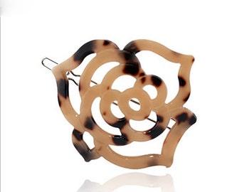 Geometric Hair Clip  Flower Hair Clip Jaw Clip Hair Barrette,Leopard Print Hair Clip Animal Print Hair Clip Accessories Flower Hair Clip