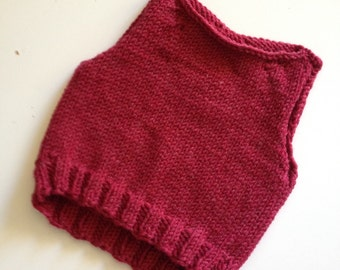 Made to order. Hand knit vest.