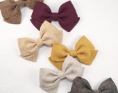 Linen Crossover Bow-choose from 8 colors