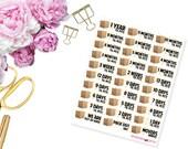 PCS Countdown -- Matte Planner Stickers