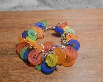 Chunky Primary Color button bracelet