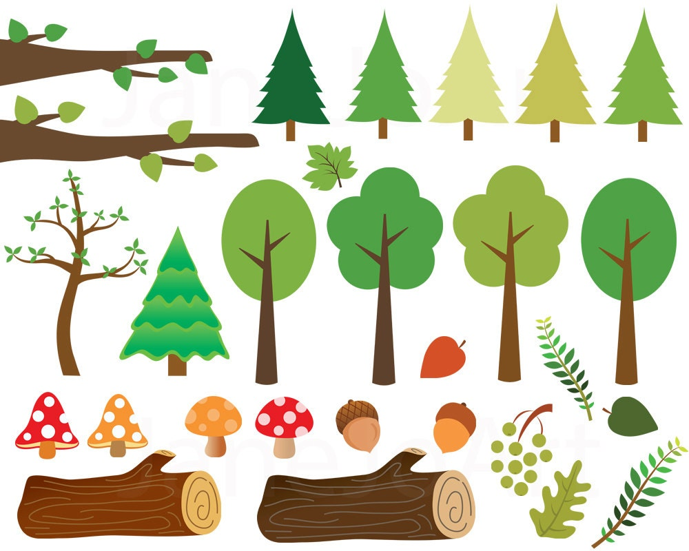 60 Woodland clipart, Woodland clip art,Woodland animals ...