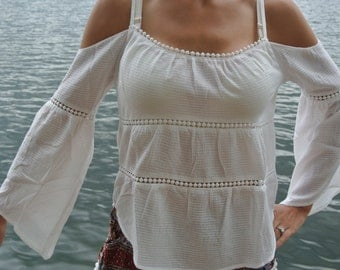 Pirate Princess Off The Shoulder Bell Top