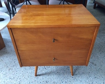 Paul McCobb Planner Group Two Drawer Chest Mid Century