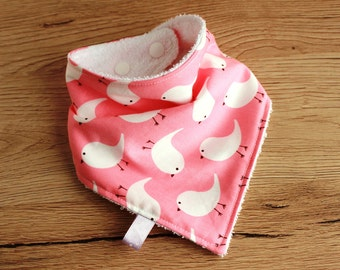 Drool bib, Bandana bib girl, Baby Bandana bib, Teething bib, New Baby girl gift, Pink Bandana Bib, Baby girl shower gift, Girl bandana bib