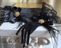 Gloves/formal gloves/knit gloves/1920s gloves/Great Gatsby gloves/Black gloves/evening gloves