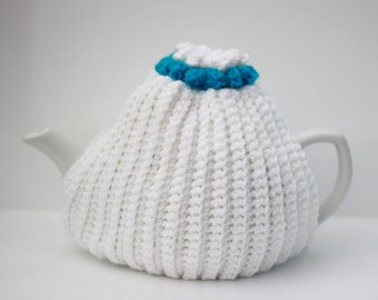 Tea pot cosy, hand made, tea cosy,   teapot cozy teapot cosy with flower topper